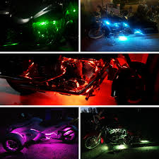 Where To Place Led Lights On Motorcycle Motorcycle Led Strip Lights Rgb Sequential Color Chasing Kit