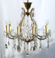 a 8 arm marie therese decorated with some very rare and lovely large lead drops