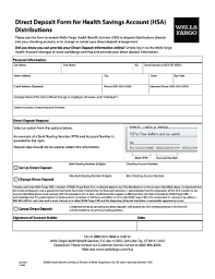 How To Fill Out Direct Deposit Form Direct Deposit Wells Fargo Form Fill Out And Sign Printable Pdf