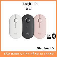 Hàng Chính Hãng] Chuột Logitech Pebble M350 - Kết nối Bluetooth hoặc đầu  thu 2.4 GHz, Yên tĩnh chính hãng 499,000đ