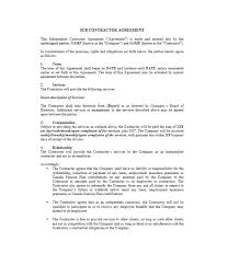 Independent Contractor Agreement Template Custom Need A Subcontractor Agreement 44 Free Templates HERE