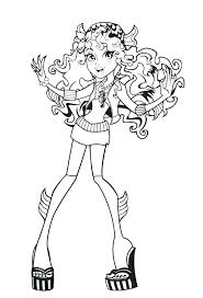 Monster High Coloring Pages Pdf Monster High Coloring Pages Blue