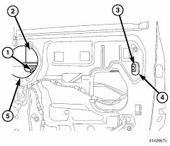 remove rear window motor dodge ram 2500 year 2005 dorman 645-506 if equipped, disconnect the door wire harness (2) from the power door switch assembly and remove the door trim panel