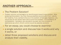 examples of problem solution essays space race essay essay  the problem solution problem solution writing begins by identifying and examining a problem examples of