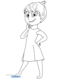 Disney Inside Out Trailer Coloring Pages