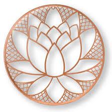 lotus blossom metal wall on lotus wall art metal with graham brown 16 in x 16 in lotus blossom metal wall art 104035