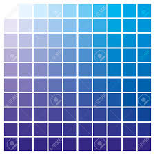 Blue Color Swatch Chart Cmyk Color Chart To Use In Prepress And Printing Used To Pick