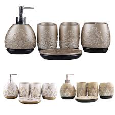 4 Piece Bathroom Accessory Set Marble Bathroom Accessories Sets With Bathroom Products Set High