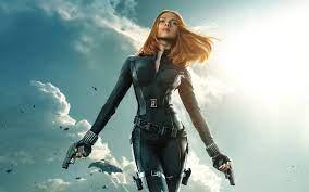 Black Widow film van Marvel hinten ...