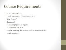 "english c critical thinking and advanced composition aka ""the  5 course requirements 3 3 5 page essays"