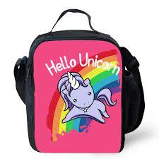 <b>Hello Unicorn</b> Lunch Bag Oxford Food Preservation Organizer ...