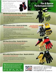 Glove Cut Rating Chart Mfa Oil Gas Extrication Glove With Blood Borne Pathogen Liner Ansi 5 Cut Rated Palm