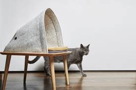 trendy cat furniture. gray cat skulks past contemporary furniture from meyou nonagonstyle trendy