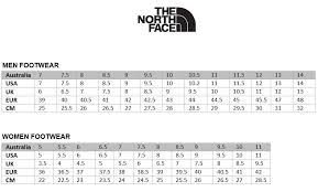 North Face Shoe Size Chart Veracious The North Face Womens Size Chart North Face Size