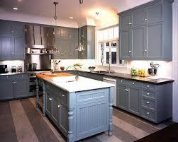 blue grey kitchen cabinets. Modren Grey Kitchens  Gray Blue Shaker Kitchen Cabinets Black Granite Countertops  Island Butcher Block Countertop And Blue Grey Kitchen Cabinets L