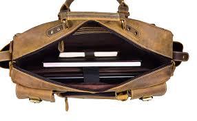 Designer Leather Hides Jayss Hides Designer Genuine Leather Laptop Messenger Bag For Men Women Color Brown