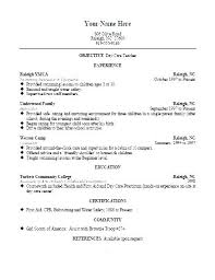 Sample Child Care Resume Professional Sample Resume Format Gorgeous Child Care Resume Sample