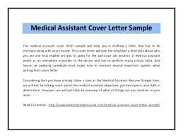 Cover Letter Examples For Medical Assistant Medical Assistant Cover Letter No Experience Bitacorita