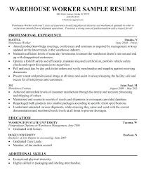 warehouse packer resume packer resume sample glamorous warehouse  warehouse