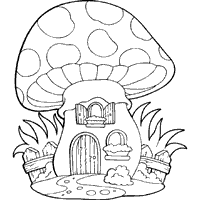 Small Picture Mushroom Hut Coloring Pages Surfnetkids