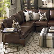 brown leather sectional sofas.  Brown Large LShaped Sectional And Brown Leather Sofas H