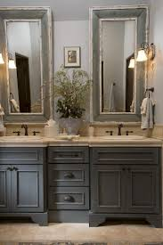 paint bathroom cabinets rust french country bathroom gray washed cabinets mirrors with painted fram