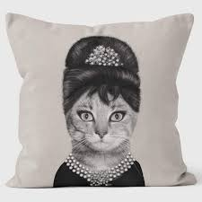 Breakfast Mono Pets Rock Cushions Fun Funky Pillows welovecushions