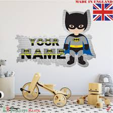 batman 02 name wall stickers for nursery personalised name wall
