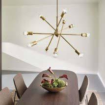 modern pendant lighting. Natural Brass Ten-Light Starburst Pendant Modern Lighting