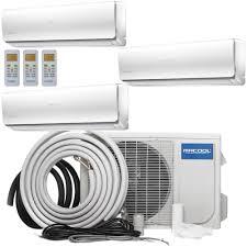 How To Install A Heat Pump Mrcool Olympus 36000 Btu 3 Ton Ductless Mini Split Air
