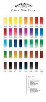 Winsor And Newton Cotman Color Chart Cotman Watercolour Paint By Winsor Newton Color Chart In