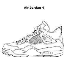 Jordan Shoe Coloring Pages Air Jordans New Basketball Shoes Page