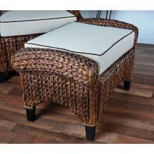 storage square seagrass coffee table wicker round footrest outdoor