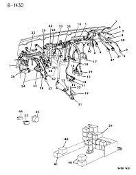 1994 chrysler lebaron gtc wiring instrument panel