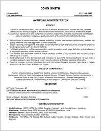 Resume Cover Letter Examples Network Administrator Cover Letter