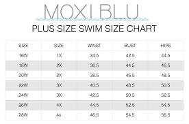 Plus Size Swim Size Chart Moxi Girls Diary