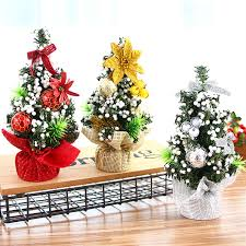 Us 2 37 50 Off Bevigac Mini Christmas Tree Table Decoration Xmas Ornament Decor For Home Office Shop Window Christmas Party Accessories In Pendant