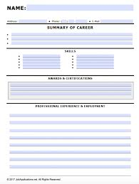 Free Fillable Resume Templates Free Fillable Job Application Forms In Adobe PDF And MS Word 53
