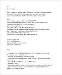 Senior It Administrator Resume It Operations Manager Resume Do