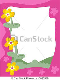Small Picture Stock Illustration of Garden Border Floral garden page border