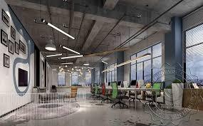 industrial look office interior design. Industrial Style Office Interior Rendering, Simple 3D Rendering Design Look S