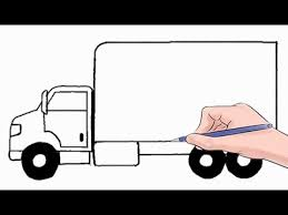 How to Draw a Delivery Truck Easy Step by Step - YouTube