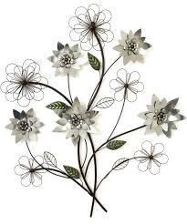 endearing fabulous pcs flowers metal wall metal flower wall art fascinating awesome wall art ideas design