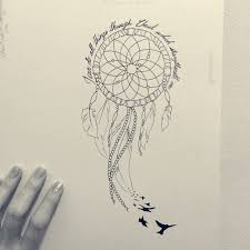 Dream Catcher Tattoo Stencils Black Birds And Dreamcatcher Tattoo Design 37