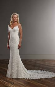 Designer Sheath Wedding Dresses Graphic Lace Wedding Dress With Straps Lace Weddings