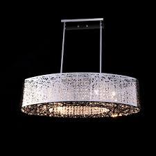 crystal oval shade bird nest modern glam chandelier