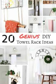 diy towel storage. These DIY Towel Rack Ideas Are Genius! Find The Perfect One For Your Bathroom! Diy Storage