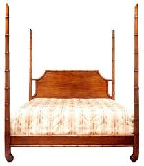 bamboo poster bed. Interesting Bed Wood U0026 Hogan Georgian Style Faux Bamboo Four Poster Bed And N