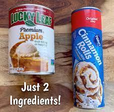 2 ing cinnamon roll apple