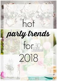 10 Hot Party Trends For 2018 Revel And Glitter